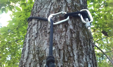 Tree saddle rope hook up