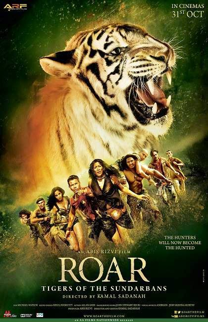 Poster Of Hindi Movie Roar: Tigers of the Sundarbans (2014) Free Download Full New Hindi Movie Watch Online At Alldownloads4u.Com