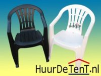Stapelstoelen, stapel stoelen, kleur donkergroen of wit