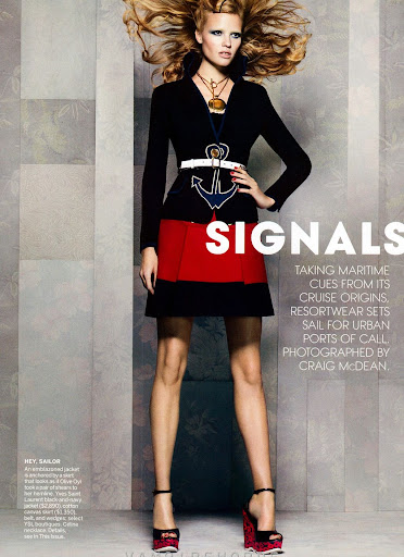 Vogue-USA-November 2011- Nautical Signals - Lara Stone