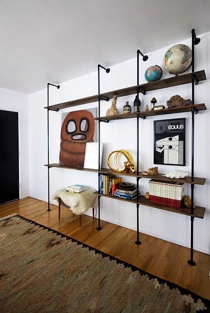 industrial look 26 stylische m bel aus rohrverbindern. Black Bedroom Furniture Sets. Home Design Ideas