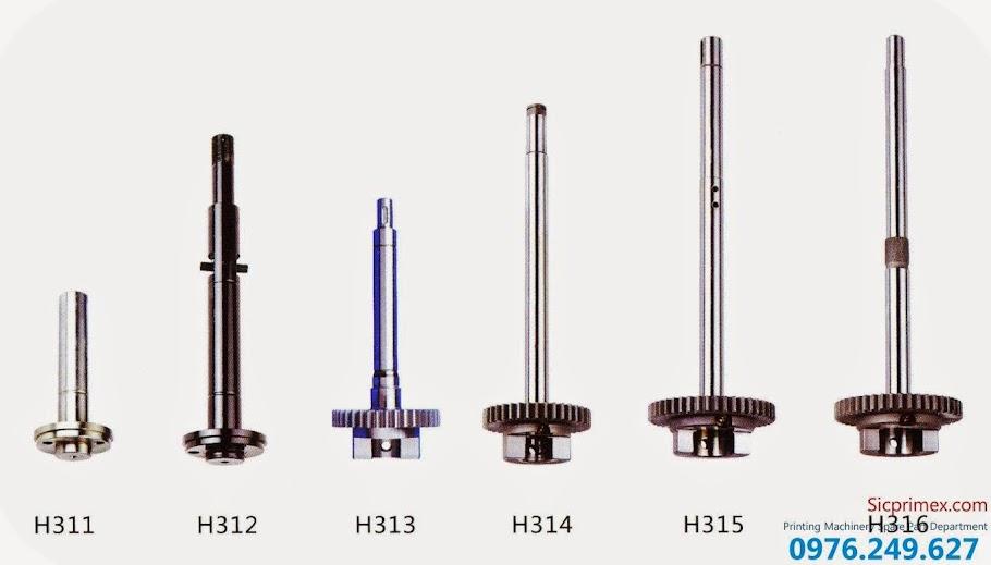 Trục máy in các loại chính hãng giá tốt nhất H311-316