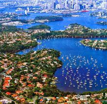 J/24s sailing Sydney Harbour, Australia