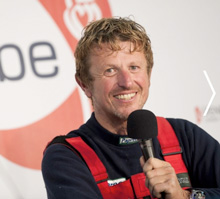 J/24 sailor- Jean-Pierre Dick- in Vendee Globe sailing Virbac-Paprec 3