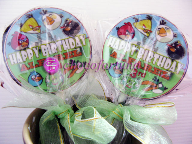 Coklat Edible Angry Birds Birthday Ulang Tahun