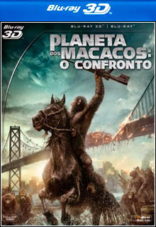 Planeta dos Macacos   O Confronto 3D BD R e BD R  FULL Capa