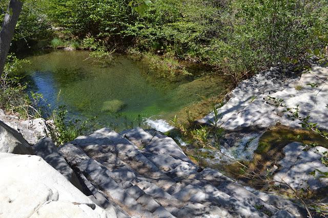 deep pool along the creek