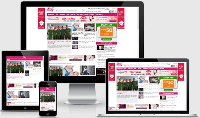 Chia Sẻ Template Blogspot Tin Tức Giống Blogtamsu.vn bản củ