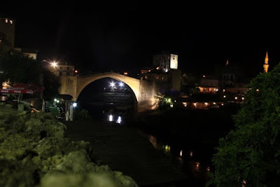 Old Bridge in Mostar Bosnia and Herzegovina at night