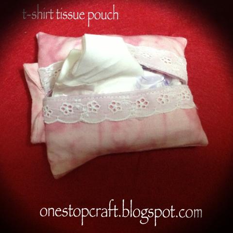 t-shirt tissue pouch