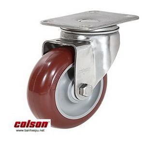 Bánh xe đẩy inox vật liệu bánh xe PU đỏ | 2-4456-944