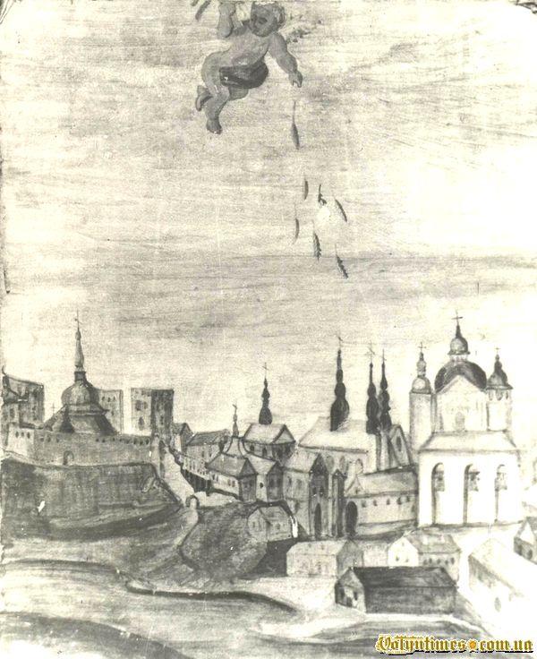 малюнок, опублікований у другому томі О. Цинкаловського «Стара Волинь і волинське Полісся»