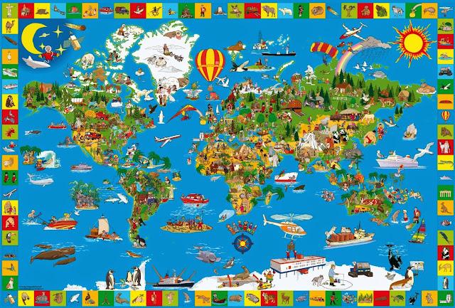 Bức tranh Xếp hình Bản đồ Thế giới 200 pcs mã 56118 thật lý thú