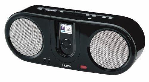 iHome iH30 Boom Box with FM Radio for iPod (Black)