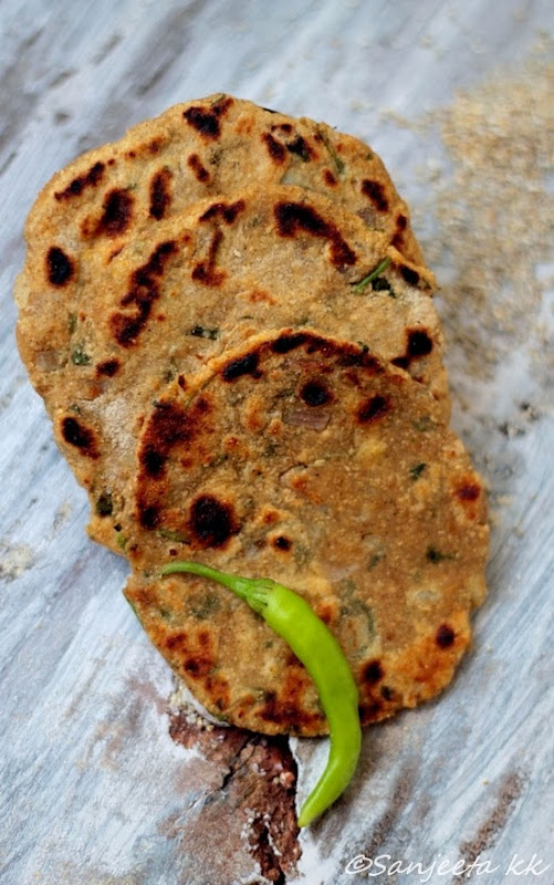Recipes | Millet Flat-bread and Garlic Spread