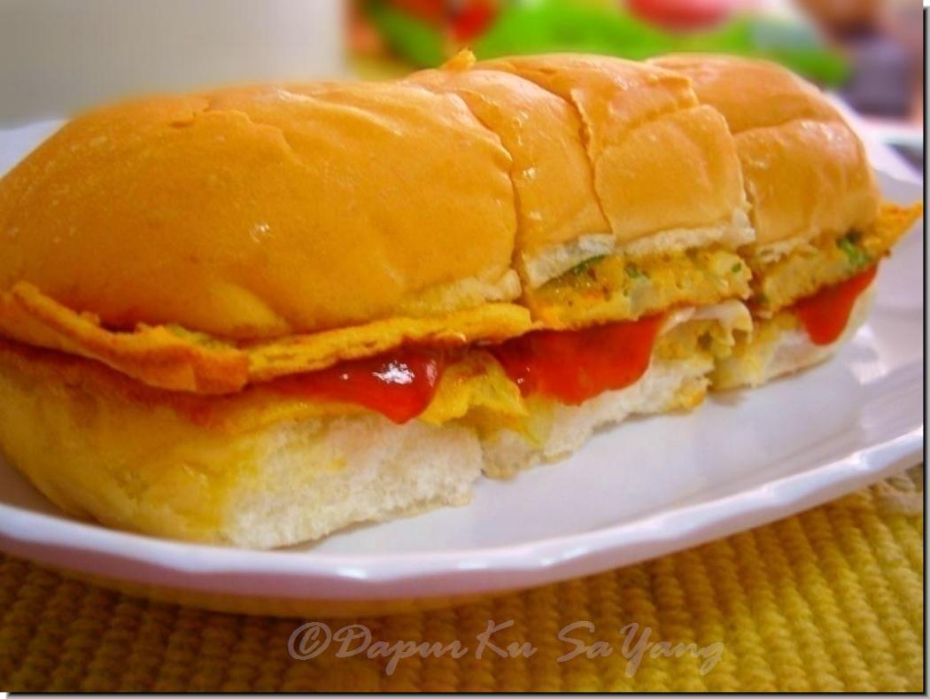 dapurku sayang roti john mudah Resepi Roti Goreng Inti Ikan Enak dan Mudah