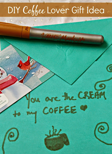 "DIY Coffee Lover Gifts: ""You're the Cream to my Coffee"" #BICMerryMarking"