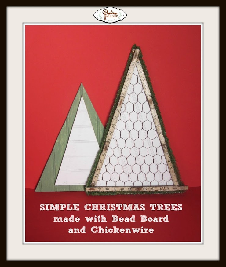 Simple Trees from Bead Board and Chicken Wire