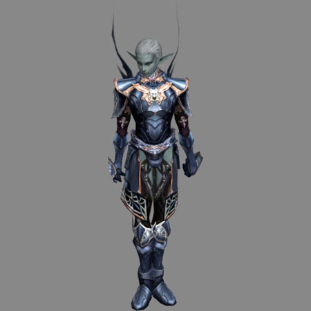 Lineage 2 Papercraft Dark Elf Male