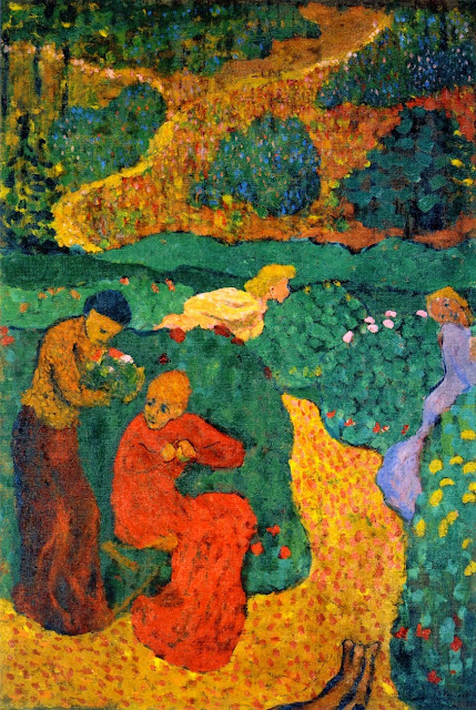 Édouard Vuillard - Women in the Garden. 'Le canticle des Cantiques'
