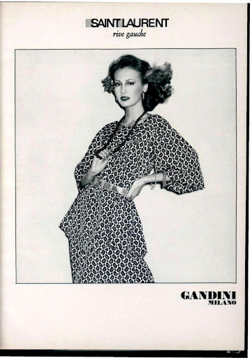 Saint Laurent, colección Rive Gauche 1975