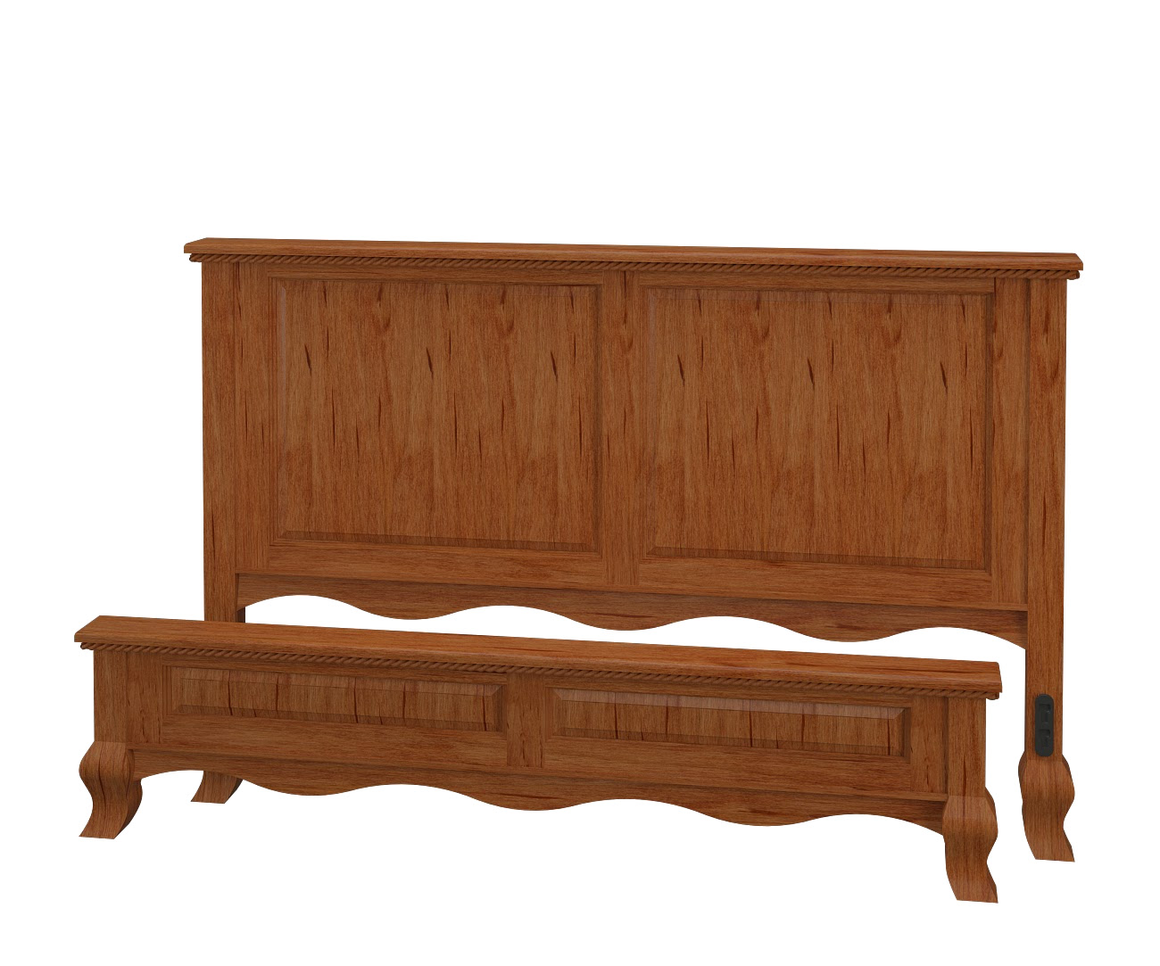 Queen anne platform bed solid wood platform bed in the for Queen anne style bed