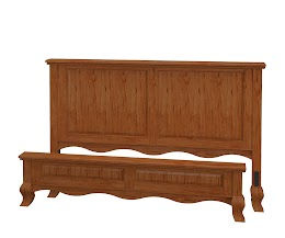 Queen Anne Platform Bed