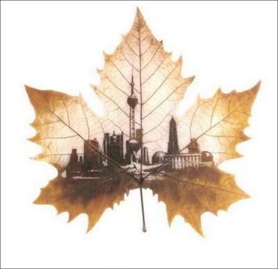 انقش صــورة تحــب الشجــر.. غاية الروعة leaf_painting_art_14