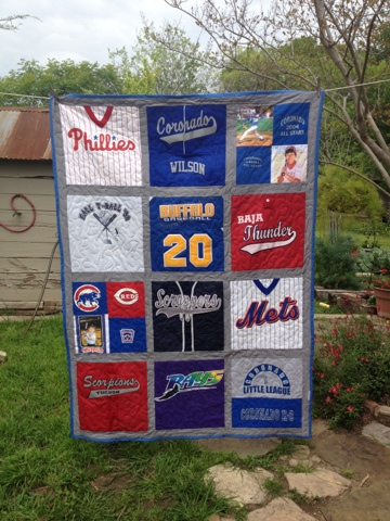 Sew And Tell Quilts: Baseball Jersey Quilt : jersey quilt - Adamdwight.com