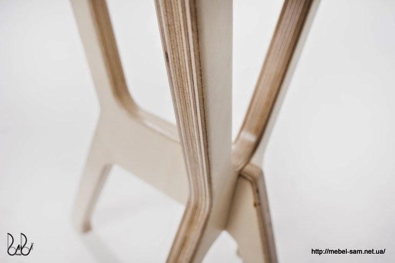 Стыковка ножек стула между собой - вид сзади