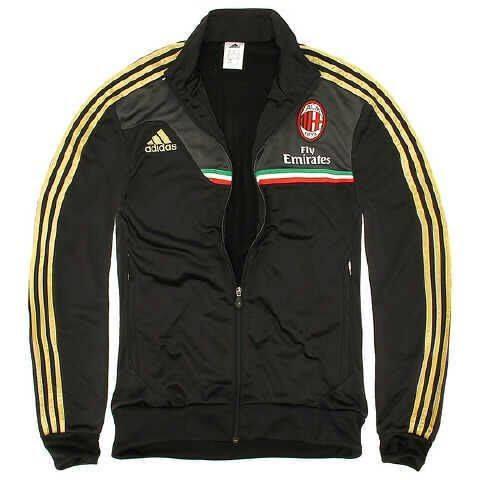 Jaket AC Milan Hitam Emas Grade Ori
