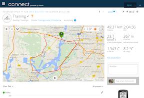Aktivität in Garmin Connect - Karte