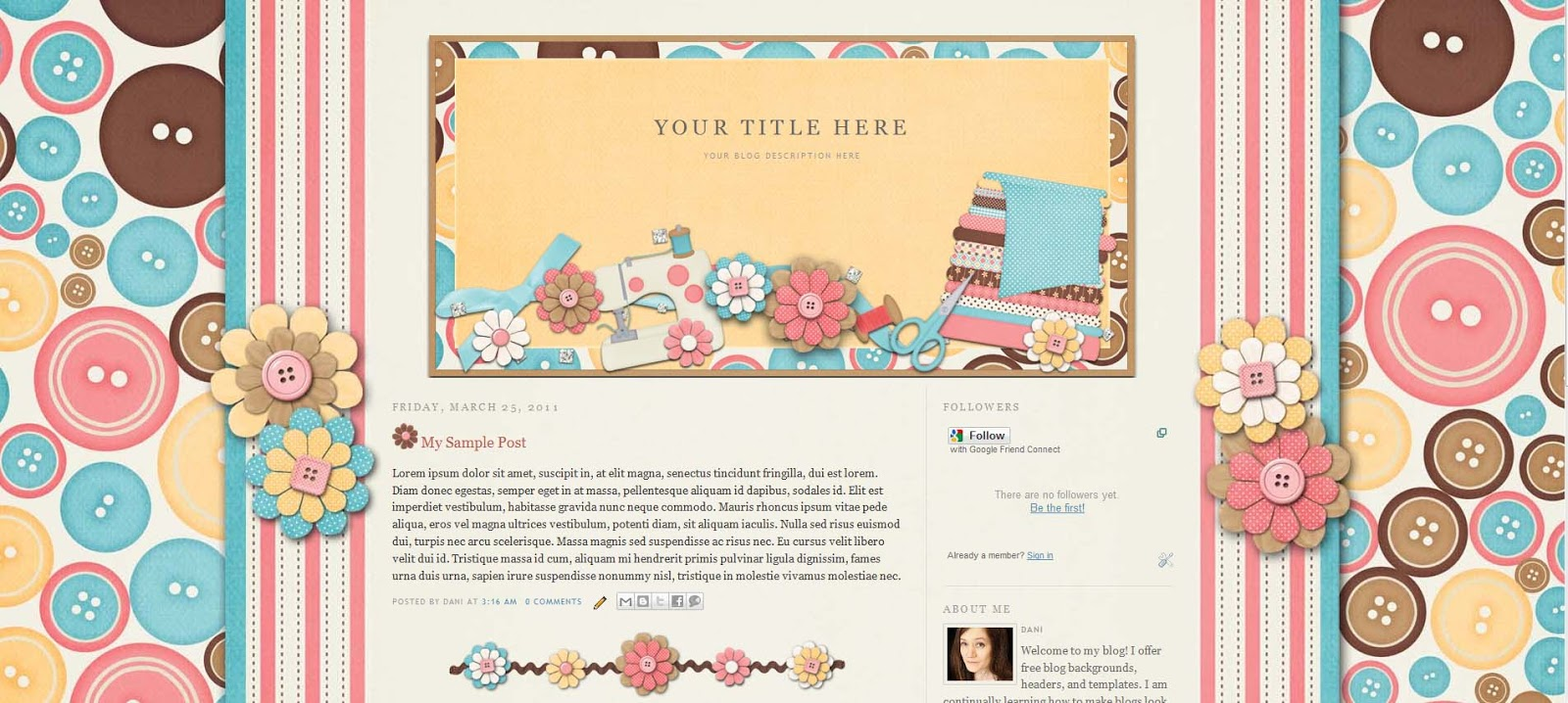 blog designs by dani march 2011