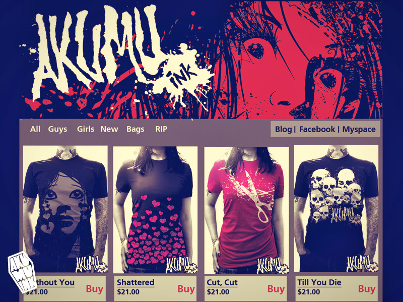 website, old website, old alternative style, vintage skulls,
