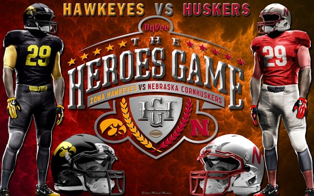 Nebraska Cornhuskers Vs Iowa Hawkeyes Heroes Game