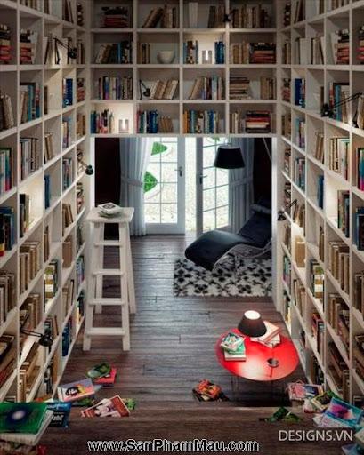 Các mẫu thiết kế nội thất phòng đọc sách P1-22