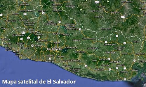 Mapa satelital de El Salvador