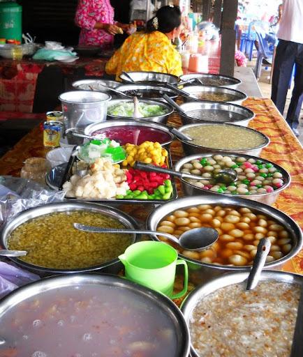 desserts at a market, Cambodia