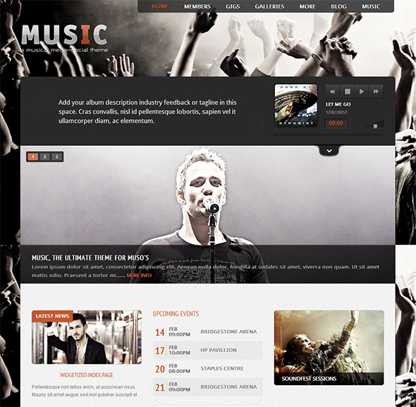 Music WordPress Theme for Musicians and Bands