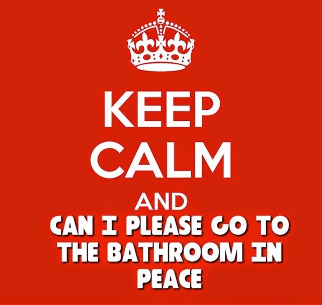 to go to the bathroom, Bathroom decor