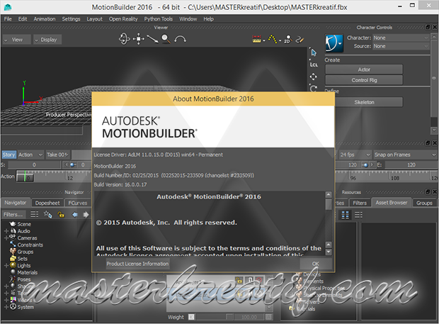 MotionBuilder 2016