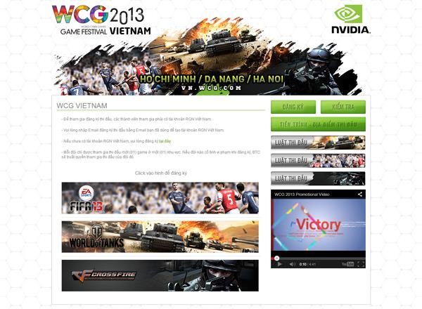 WCG Việt Nam 2013 mở đăng ký thi đấu 1