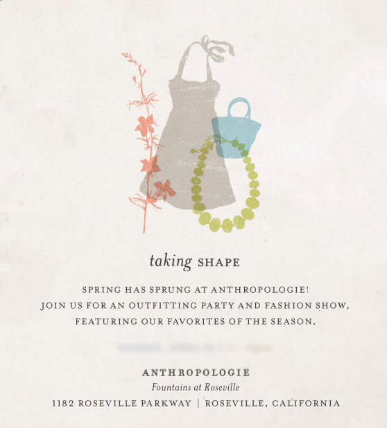 Invite Only Anthropologie Spring Outfitting Event Behind The