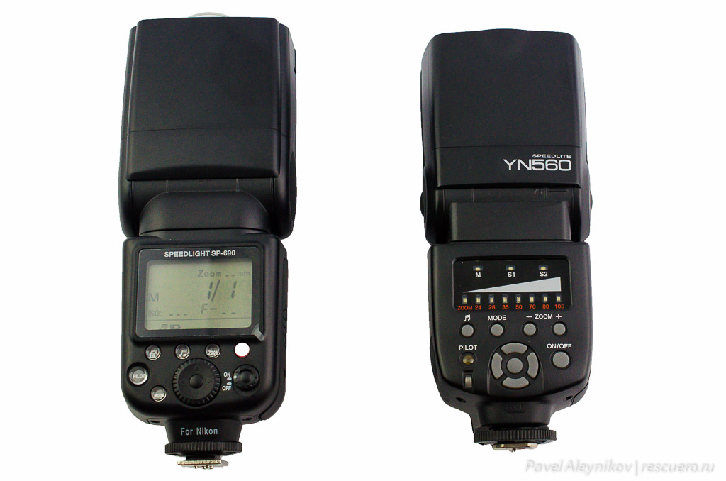Вспышки Oloong SpeedLight SP-690 и Yongnuo Speedlite YN-560