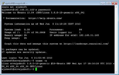 Acceso mediante SSH a Linux Ubuntu Server