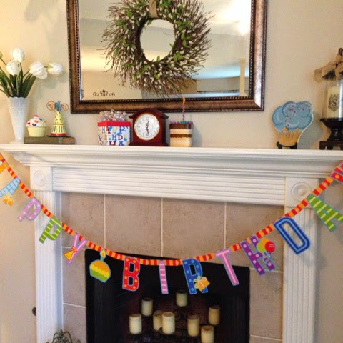 birthday mantel
