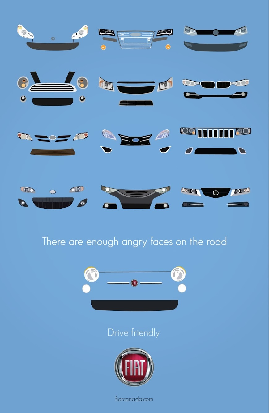 "Toronto Ad School Creating Great Prints — FIAT ""Drive Friendly"""