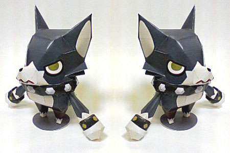 Spike the Werewolf Papercraft