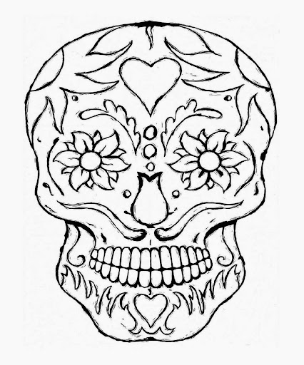 5 de mayo coloring pages - cinco de mayo skull coloring pages