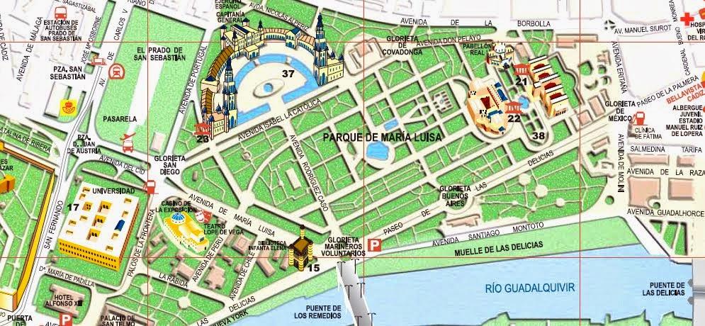 mapa sevilha pdf Guia de Sevilha – Espanha | Viagem.decaonline.| Dicas de Viagem mapa sevilha pdf